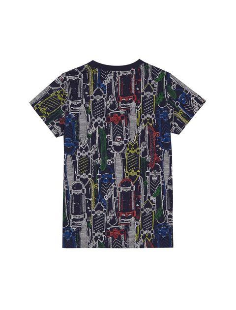 تی شرت نخی یقه گرد پسرانه - بلوزو - سرمه اي - 2