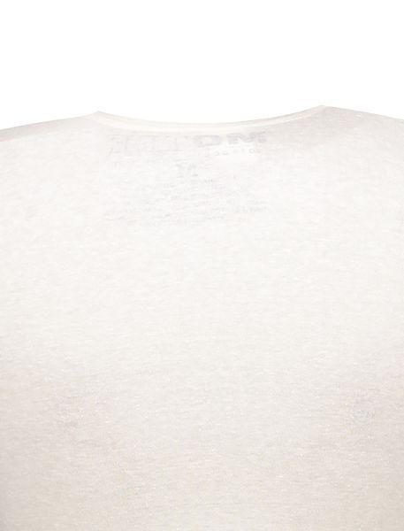 تی شرت یقه گرد زنانه - سفيد - 4