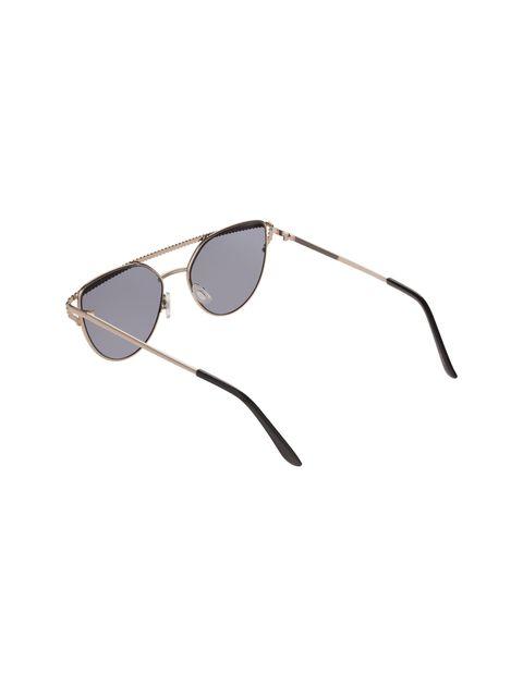 عینک آفتابی گربه ای زنانه - طلايي - 3