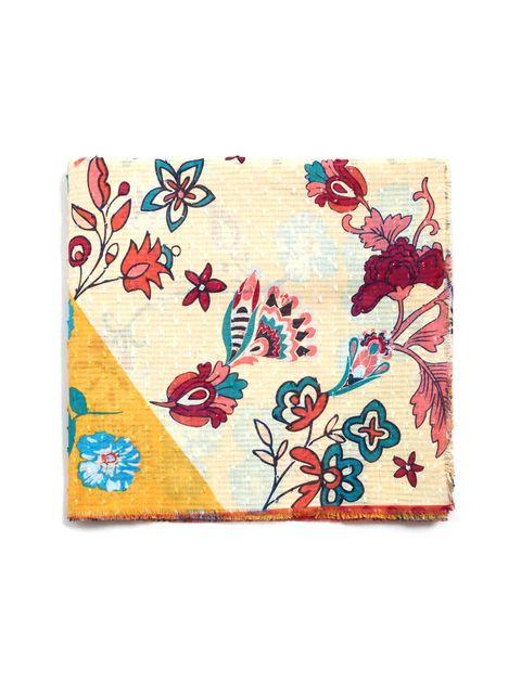 روسری نخی طرح دار زنانه - چند رنگ - 1