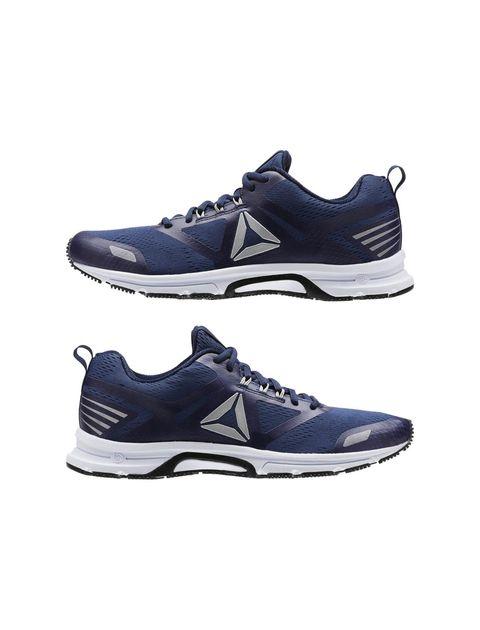 کفش دویدن بندی مردانه - سرمه اي - 4