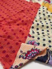 روسری نخی طرح دار زنانه - چند رنگ - 2