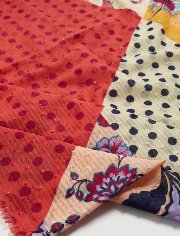 روسری نخی طرح دار زنانه - مانگو