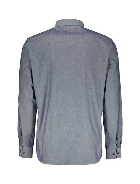 پیراهن نخی آستین بلند مردانه - آبي - 4