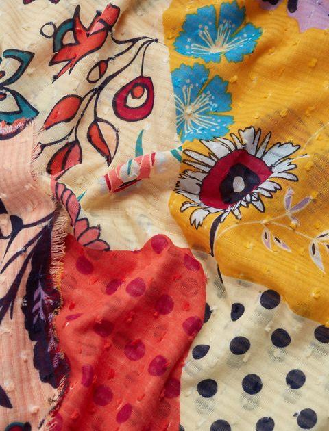 روسری نخی طرح دار زنانه - چند رنگ - 3