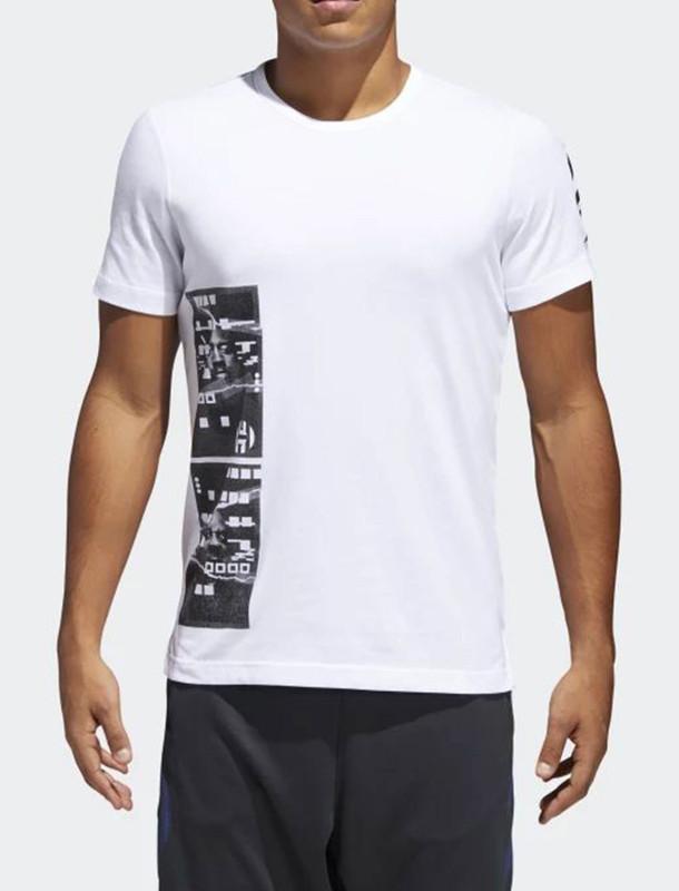 تی شرت ورزشی نخی آستین کوتاه مردانه Harden - آدیداس