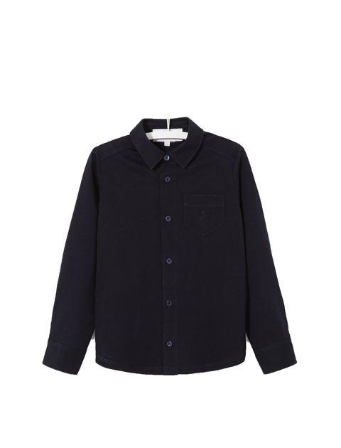 پیراهن نخی آستین بلند پسرانه Laine - جاکادی - سرمه اي  - 1