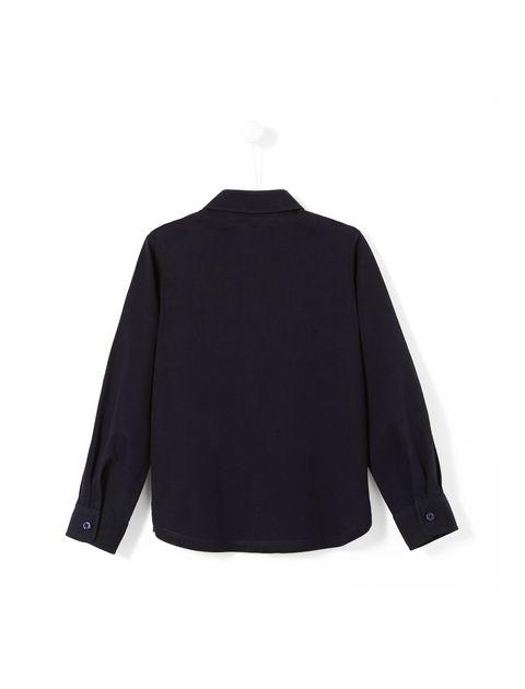 پیراهن نخی آستین بلند پسرانه Laine - جاکادی - سرمه اي  - 2
