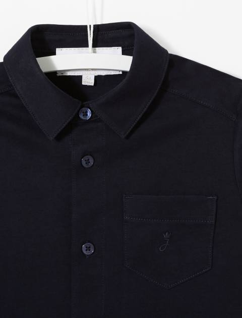 پیراهن نخی آستین بلند پسرانه Laine - جاکادی - سرمه اي  - 3