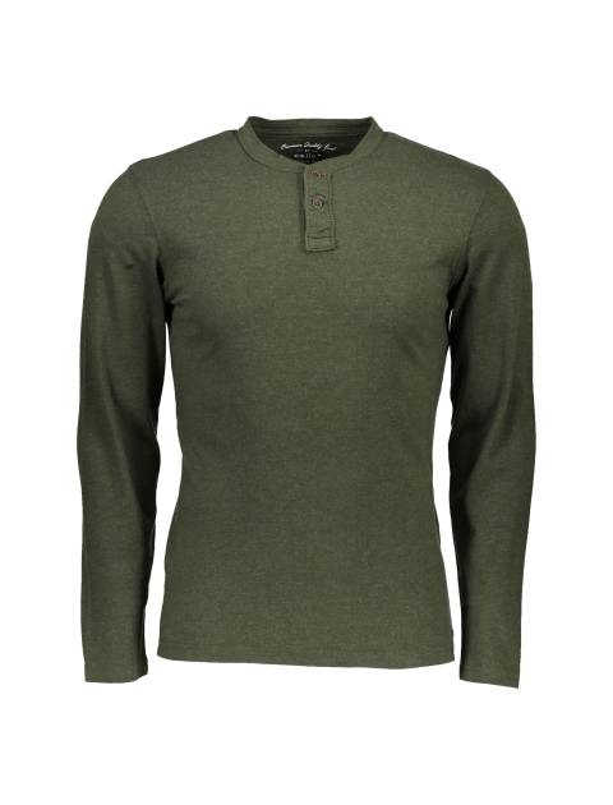 تی شرت نخی یقه گرد مردانه - سلیو - زيتوني - 1