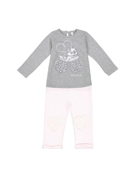 تی شرت و شلوار نخی نوزادی دخترانه - ایدکس