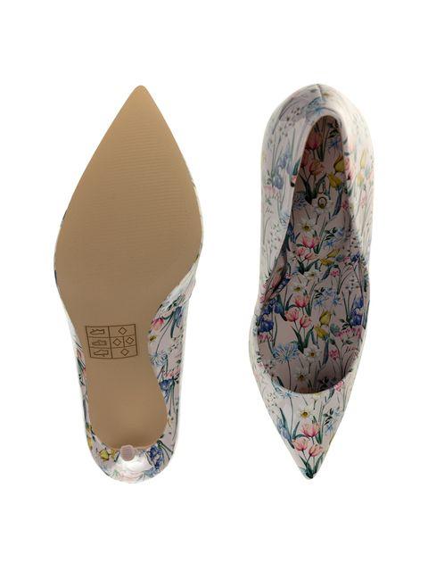 کفش پاشنه بلند زنانه - صورتي  - 2