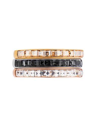 انگشتر استیل زنانه بسته سه عددی - برازوی