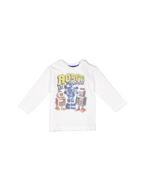 تی شرت نخی نوزادی پسرانه - سفيد - 1