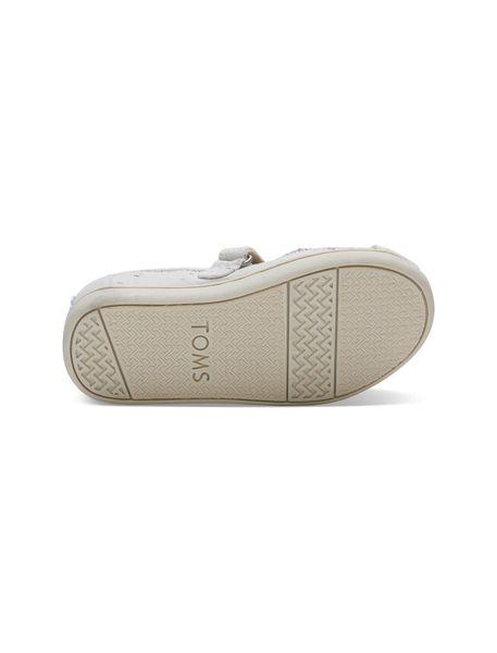 کفش پارچه ای چسبی دخترانه MARY - کرم - 2