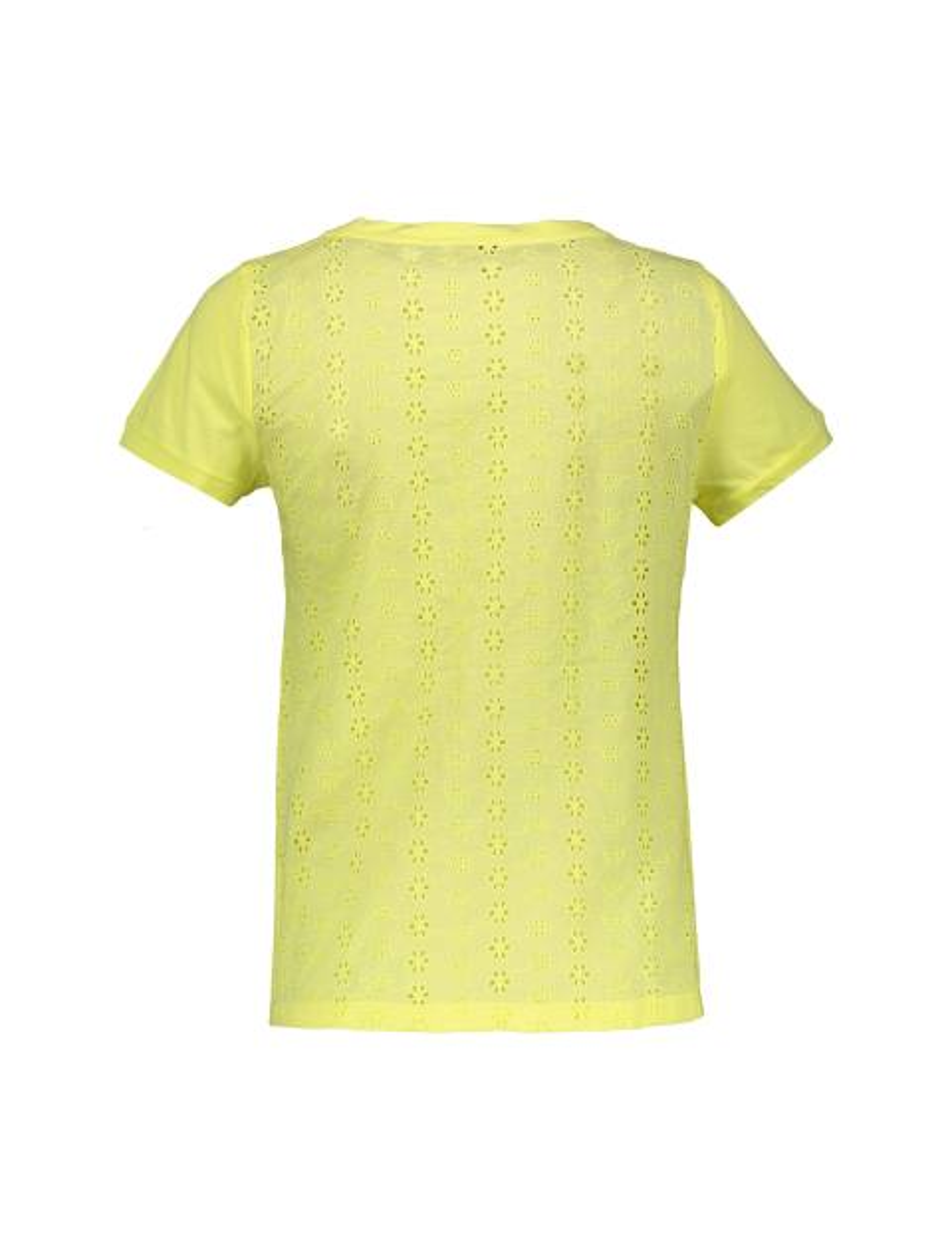 تی شرت یقه گرد زنانه - زرد - 2