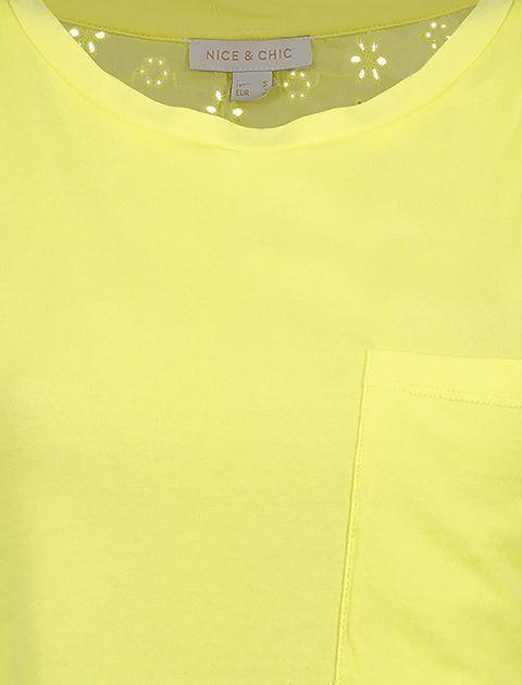 تی شرت یقه گرد زنانه - زرد - 4