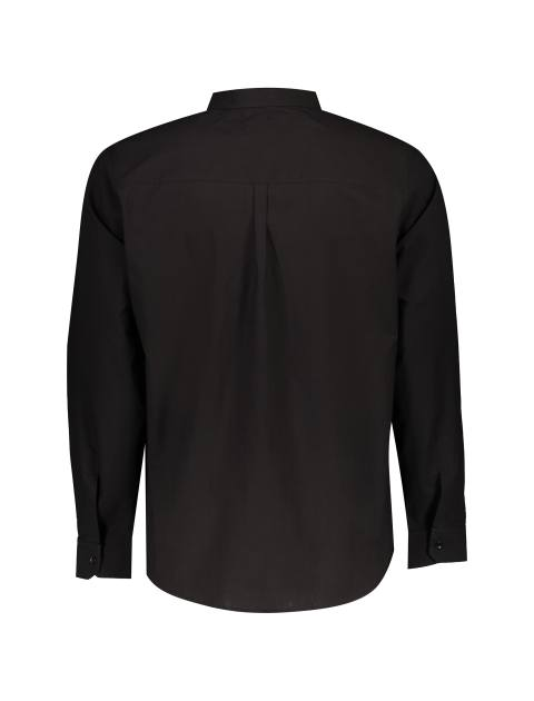 پیراهن نخی آستین بلند مردانه - آر اِن اِس - مشکي - 2