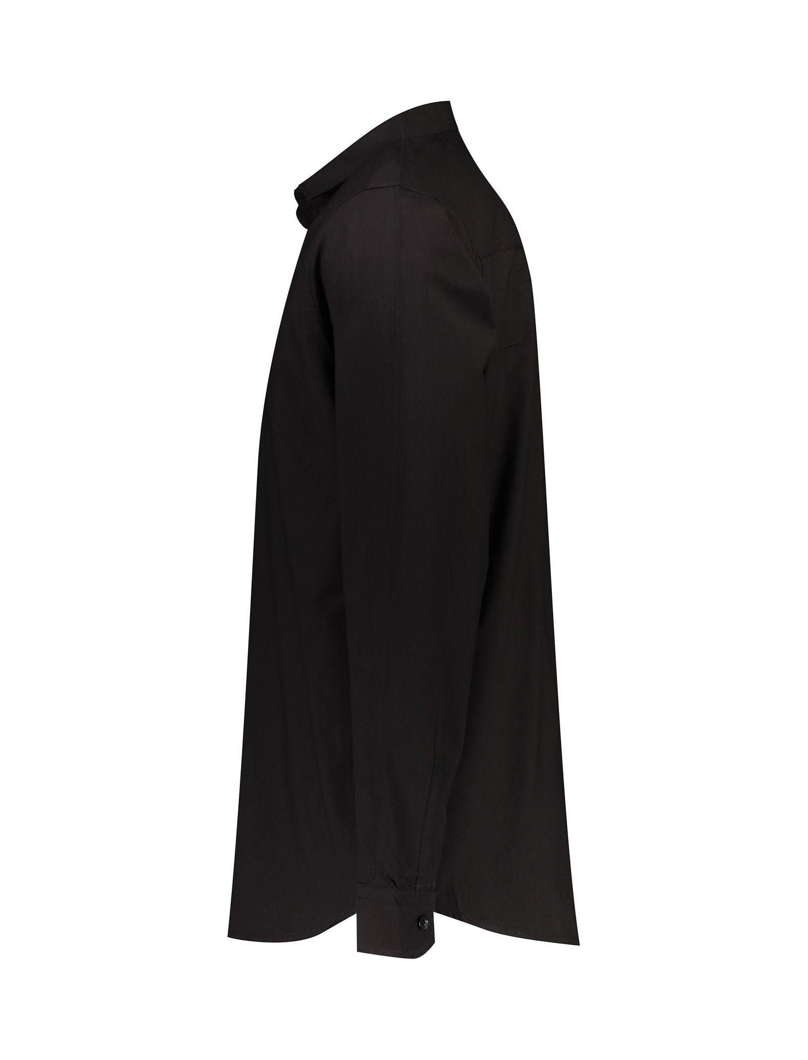 پیراهن نخی آستین بلند مردانه - آر اِن اِس - مشکي - 3