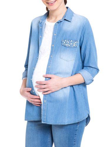 شومیز نخی آستین بلند بارداری