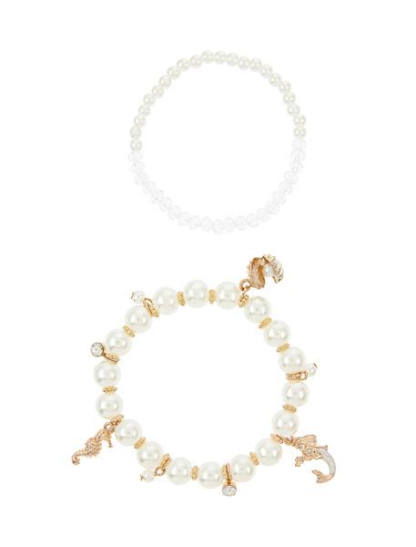 دستبند مهره ای دخترانه بسته 2 عددی - مانسون چیلدرن