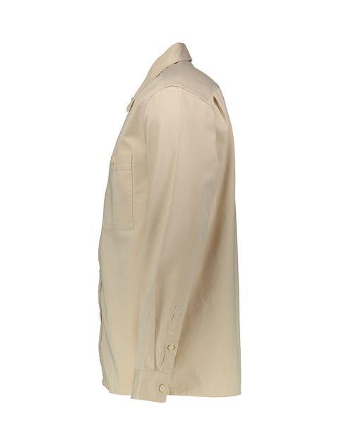 پیراهن نخی آستین بلند مردانه - بژ - 4