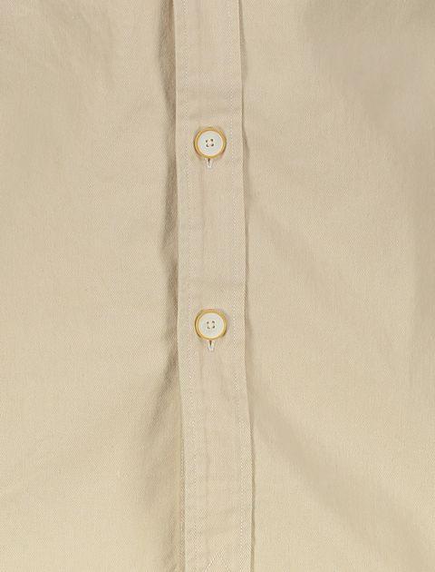 پیراهن نخی آستین بلند مردانه - بژ - 5