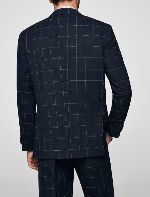 کت پشمی غیر رسمی مردانه - مانگو - سرمه اي - 3
