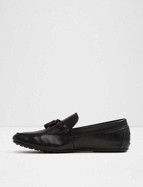 کفش راحتی چرم مردانه - مشکي - 2
