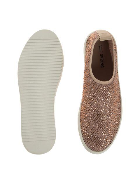 کفش تخت پارچه ای زنانه - کال ایت اسپرینگ - کرم صورتي - 2