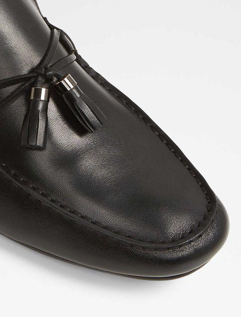 کفش راحتی چرم مردانه - مشکي - 4