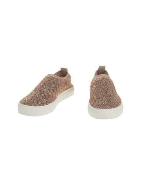 کفش تخت پارچه ای زنانه - کال ایت اسپرینگ - کرم صورتي - 4