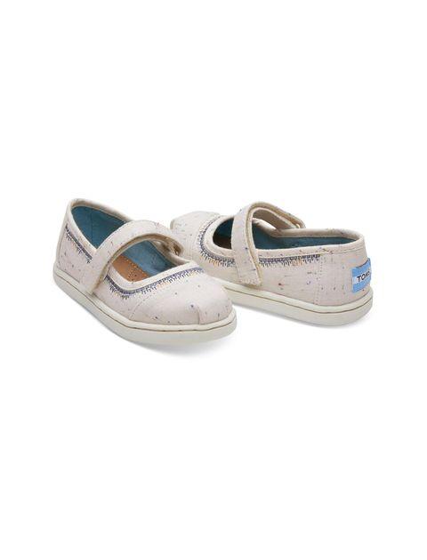 کفش پارچه ای چسبی دخترانه MARY - کرم - 3