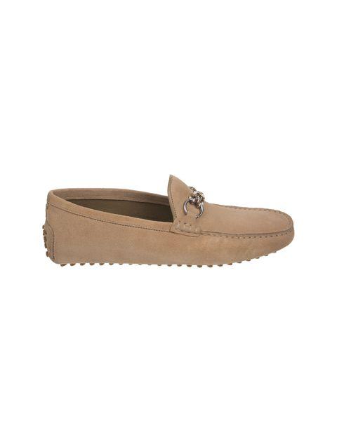 کفش چرم راحتی یکسره مردانه - کرم - 1
