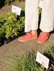 کتانی جیر بندی زنانه LENA - تامز - قرمز - 4