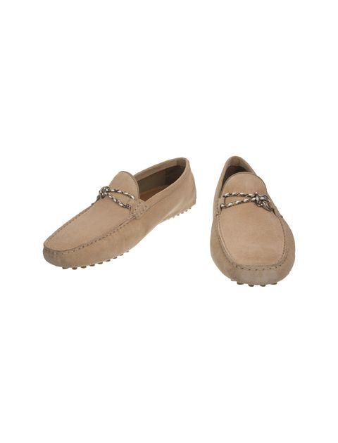 کفش چرم راحتی یکسره مردانه - کرم - 4