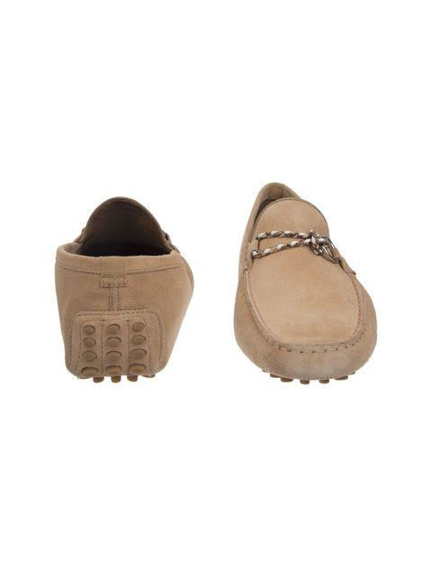 کفش چرم راحتی یکسره مردانه - کرم - 5