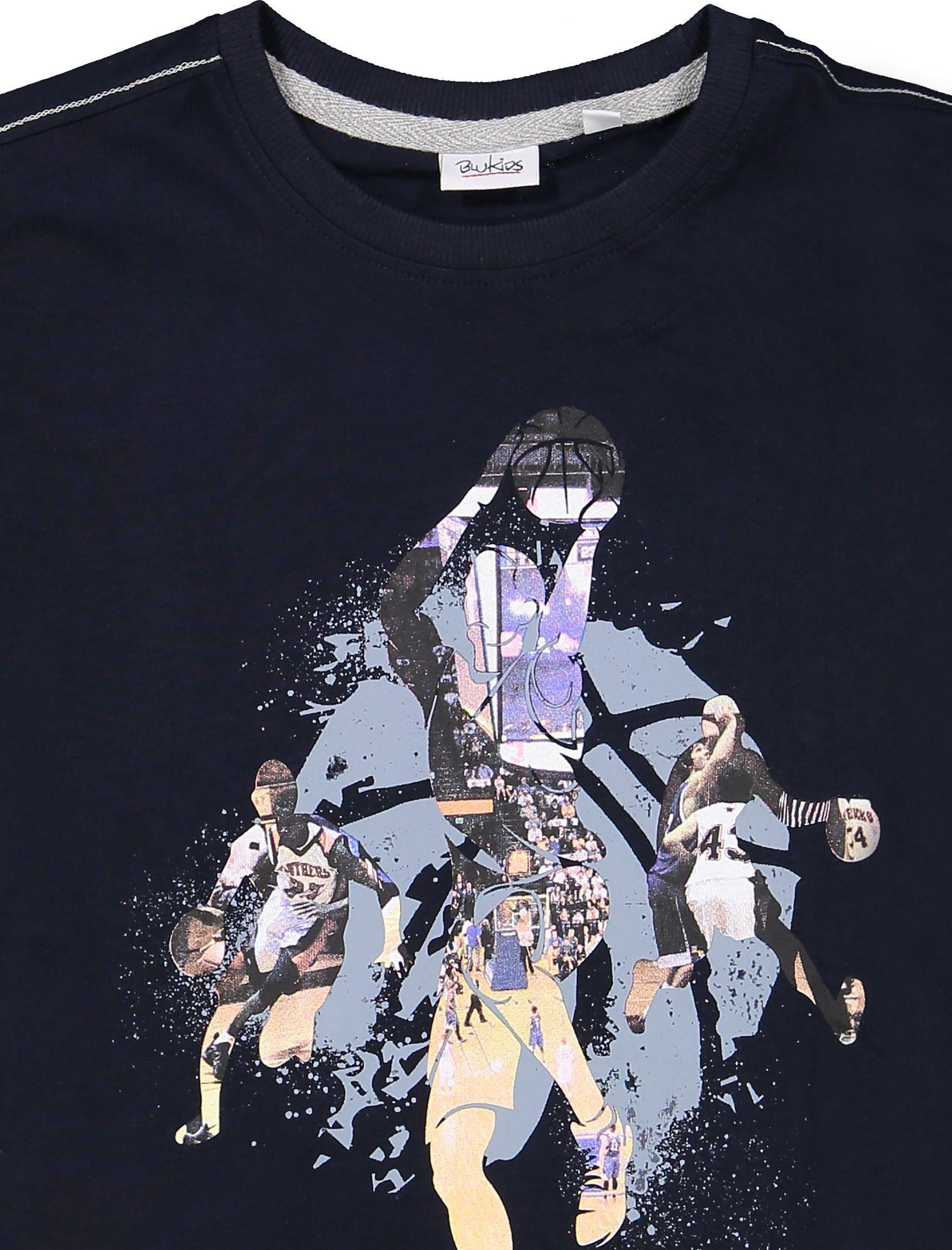 تی شرت و شلوارک نخی پسرانه - بلوکیدز - سرمهاي/طوسي - 4