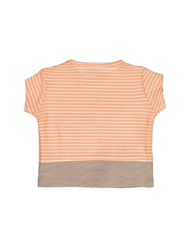 تی شرت نخی طرح دار نوزادی دخترانه - مانگو