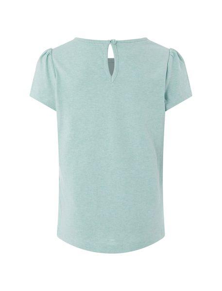 تی شرت نخی آستین کوتاه دخترانه - سبز پسته اي - 2