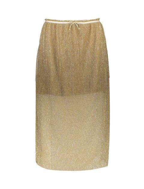 دامن بلند دخترانه - طلايي - 1
