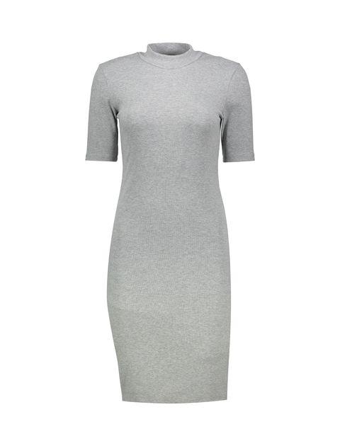 پیراهن میدی زنانه - طوسي روشن - 1