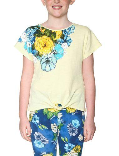 تی شرت نخی یقه گرد دخترانه - دزیگوال