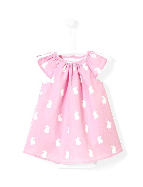 پیراهن نخی نوزادی دخترانه Lacina - جاکادی - صورتي - 1
