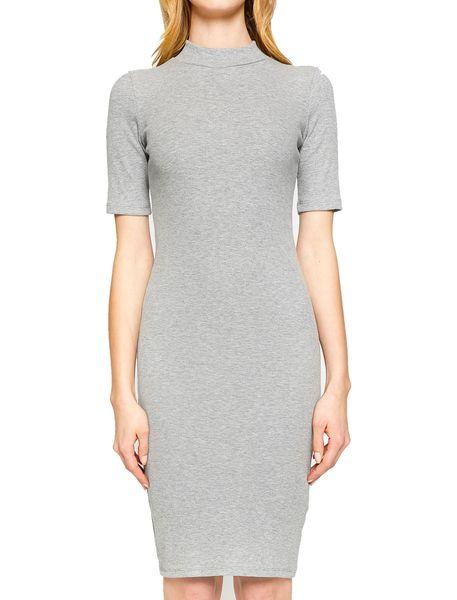 پیراهن میدی زنانه - طوسي روشن - 4