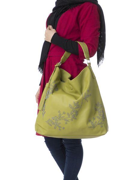 کیف دستی زنانه - سبز - 6