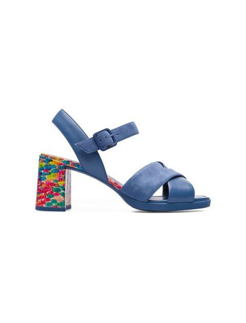 کفش پاشنه بلند چرم زنانه Kara - آبي - 1