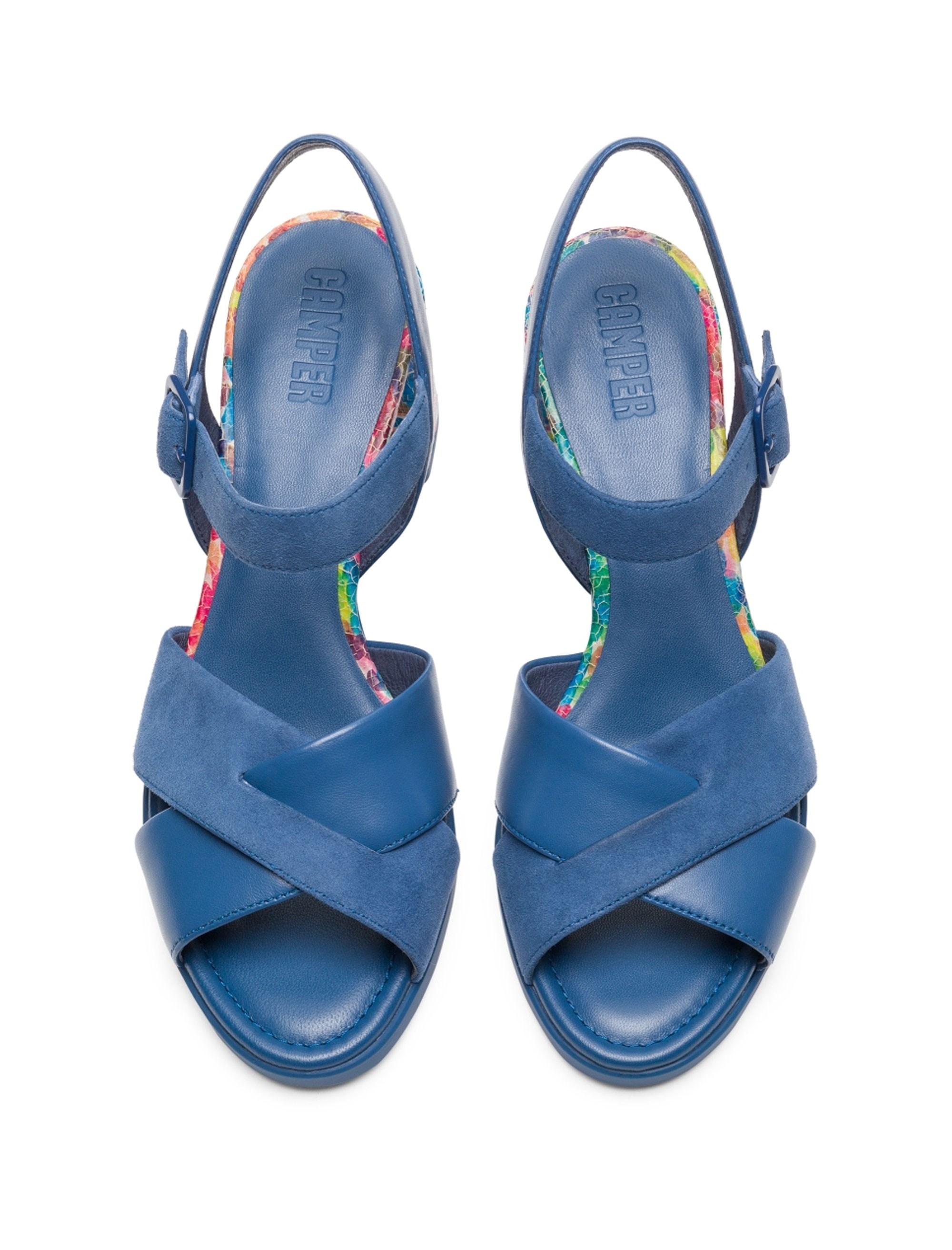 کفش پاشنه بلند چرم زنانه Kara - آبي - 2