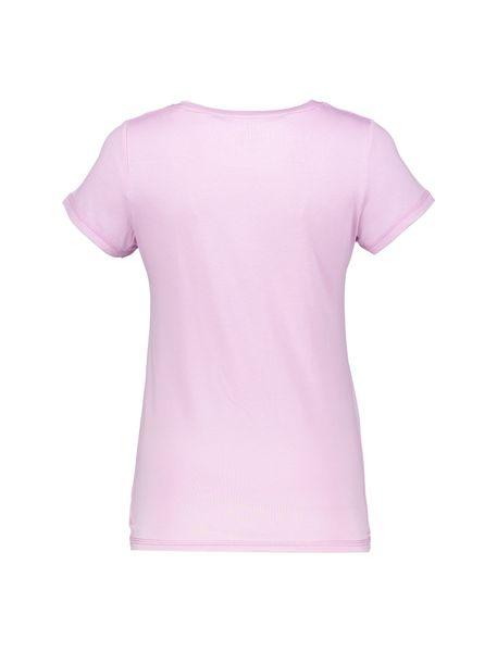تی شرت و شلوار ویسکوز زنانه - صورتي - 3