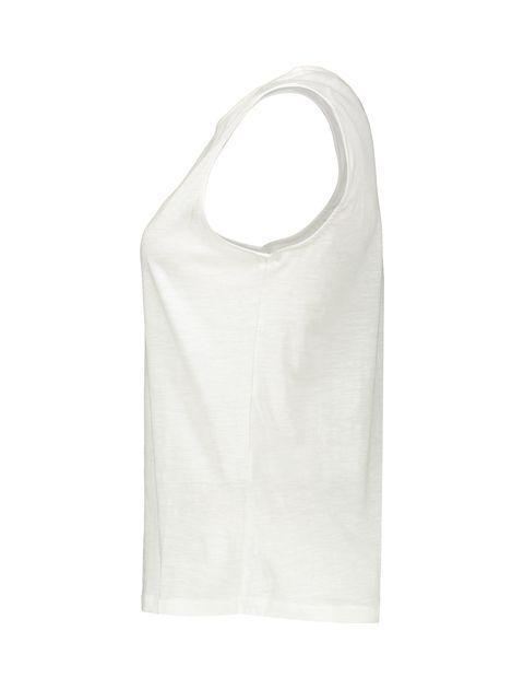 تاپ نخی یقه گرد زنانه - سفيد - 4